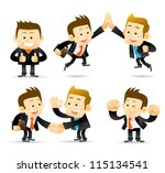 elegant people series ... | Shutterstock .eps vector #115134541
