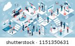 innovative technology and... | Shutterstock .eps vector #1151350631