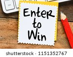 enter to win business concept   Shutterstock . vector #1151352767