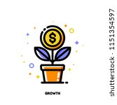 icon of growing money tree with ...   Shutterstock .eps vector #1151354597
