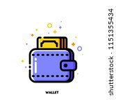 icon of wallet with banknote... | Shutterstock .eps vector #1151355434