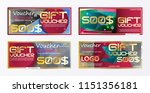 gift voucher gold template... | Shutterstock .eps vector #1151356181