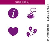 4 chat icons in vector set.... | Shutterstock .eps vector #1151357684