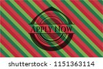 apply now christmas badge. | Shutterstock .eps vector #1151363114