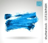 blue brush stroke and texture.... | Shutterstock .eps vector #1151369684
