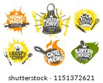 sketch style cooking lettering... | Shutterstock .eps vector #1151372621