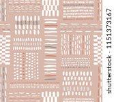 hand drawn clay tones tribal... | Shutterstock .eps vector #1151373167