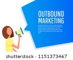 outbound marketing. megaphone... | Shutterstock .eps vector #1151373467