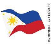 philippines flag vector. waving ... | Shutterstock .eps vector #1151373644