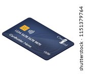 realistic detailed credit card... | Shutterstock .eps vector #1151379764