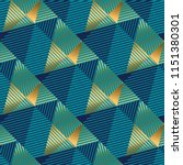striped triangles gold and blue ... | Shutterstock .eps vector #1151380301