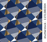 geometric gold and blue luxury... | Shutterstock .eps vector #1151380304