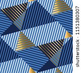 striped gold and blue luxury... | Shutterstock .eps vector #1151380307
