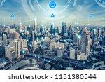 smart city wireless... | Shutterstock . vector #1151380544