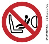 airbags child safety seat logo... | Shutterstock .eps vector #1151382737