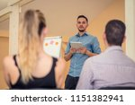 group of people listening to a...   Shutterstock . vector #1151382941