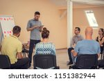 group of people listening to a...   Shutterstock . vector #1151382944