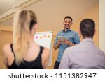 group of people listening to a...   Shutterstock . vector #1151382947