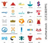 set of 25 icons such as dear ...