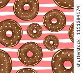 cute donut seamless pattern | Shutterstock .eps vector #1151384174