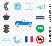 set of 13 simple editable icons ... | Shutterstock .eps vector #1151389754