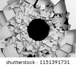 dark destruction cracked hole... | Shutterstock . vector #1151391731