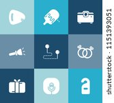 modern  simple vector icon set... | Shutterstock .eps vector #1151393051