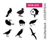 bird set   birdhouse  flat icon ... | Shutterstock .eps vector #1151397014