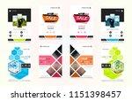 set of design of brochure ... | Shutterstock .eps vector #1151398457