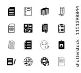 note icon. collection of 16... | Shutterstock .eps vector #1151398844