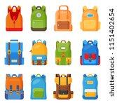 set of twelve colored school... | Shutterstock .eps vector #1151402654