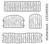 vector set of fence | Shutterstock .eps vector #1151405351