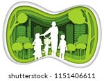 carving design of city urban... | Shutterstock .eps vector #1151406611