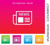 news paper icon in colored... | Shutterstock .eps vector #1151408417