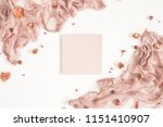 autumn fashion composition.... | Shutterstock . vector #1151410907