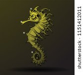 hand drawn sea horse style for... | Shutterstock .eps vector #1151412011