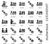 set of 25 icons such as... | Shutterstock .eps vector #1151420147