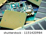 dismantled circuit boards and... | Shutterstock . vector #1151420984