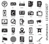 set of 25 icons such as pencil  ...