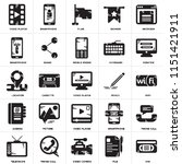 set of 25 icons such as vhs ...