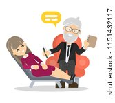 woman at psychologist....   Shutterstock . vector #1151432117