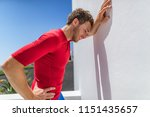 tired athlete runner man... | Shutterstock . vector #1151435657