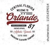orlando typography. florida... | Shutterstock .eps vector #1151439014