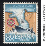 spain   circa 1961  stamp... | Shutterstock . vector #115144399