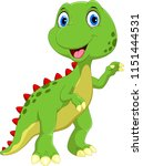 cute dinosaur cartoon isolated...   Shutterstock .eps vector #1151444531