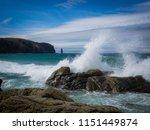 surge at sandwood beach ... | Shutterstock . vector #1151449874