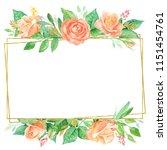 wedding invitation frame.... | Shutterstock . vector #1151454761