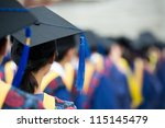 back of graduates during... | Shutterstock . vector #115145479