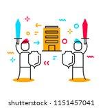 vector business illustration of ... | Shutterstock .eps vector #1151457041