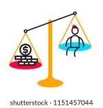 vector business illustration of ... | Shutterstock .eps vector #1151457044